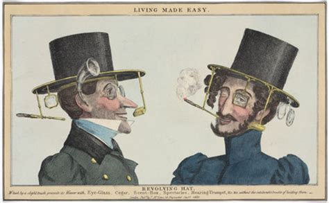 'Living Made Easy: Revolving Hat', 1830. by McLean, T at