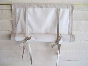 Cotton canvas 48 long swedish roll up shade stage by for How to make roll up curtains