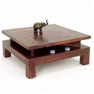 Table Basse Carrée En Bois : table basse carr e en palissandre zen mobilier ethnique ~ Teatrodelosmanantiales.com Idées de Décoration