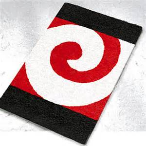 filou quality contemporary bath rugs swirl design