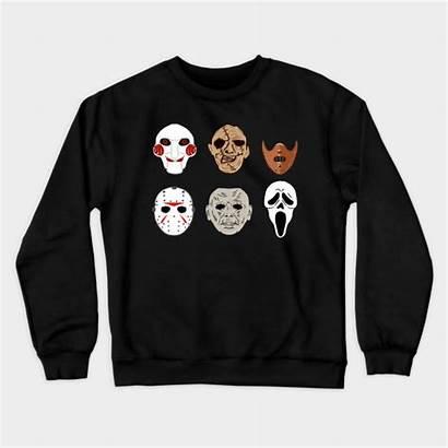 Movie Horror Clown Masks Reaper Halloween Crewneck