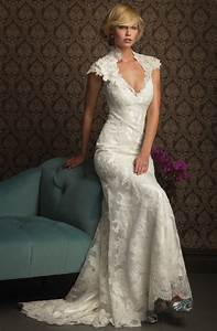 lace wedding dress with low cut ipunya With low cut wedding dresses