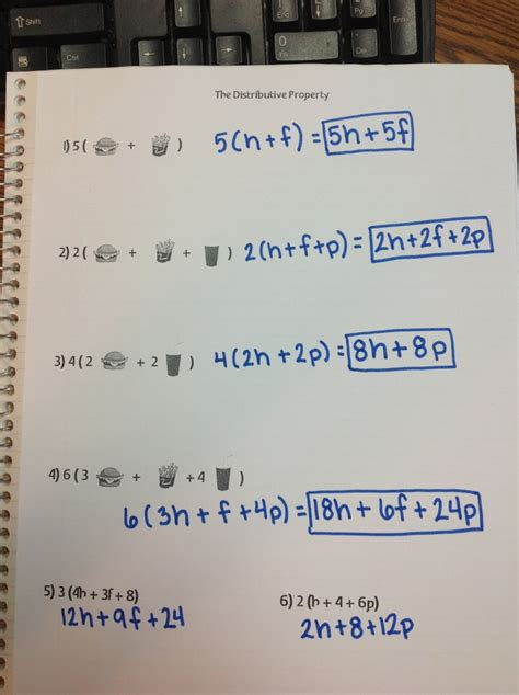 Distributive Property W Variables  Gcs Secondary Math
