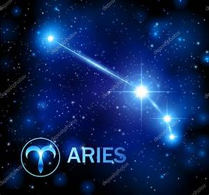 Horoscope star sign - aries constellation — Stock Vector ...