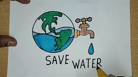 draw save water save earth drawing  kids save