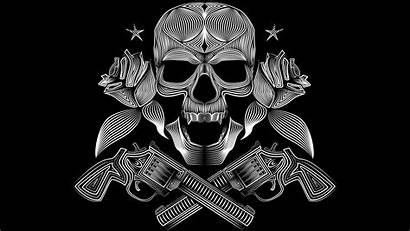 Skull Gun Vector Gangsters Pirates Wallpapers Desktop