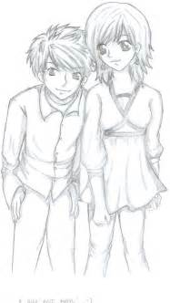 Best Friend Guy and Girl Drawings Pencil