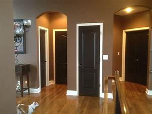 Black doors white trimthank u pinterest for the idea for Interior paint colors browns