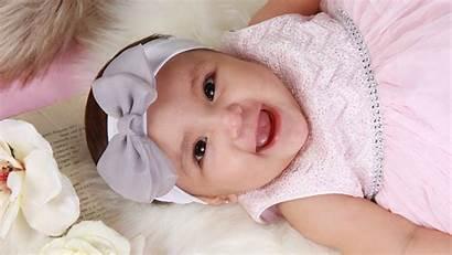 Cute Baby Head Down Looking Lying Floor