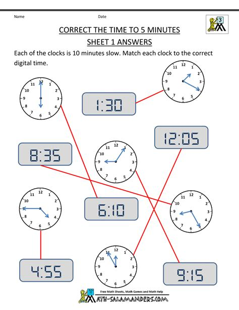 20 luxury math worksheets time to five minutes images
