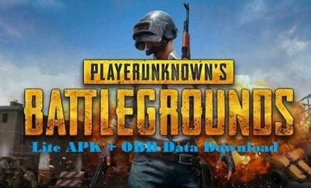 pubg mobile lite apk obb data for android version