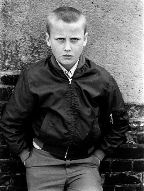 Portrait of a young skinhead boy, Woolwich, London 1981