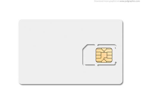 blank sim card psd file