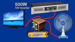 How To Make Inverter 12v To 220v