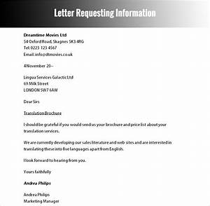 40 formal letter templates free word pdf formats With letter template requesting information
