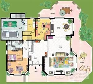 vaste maison familiale detail du plan de vaste maison With plan de maison 120m2 3 vaste villa detail du plan de vaste villa faire