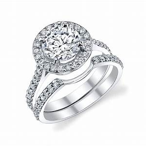 halo ring diamond wedding bands for halo ring With halo rings with wedding band