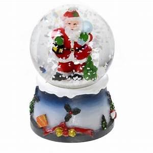 Boule De Neige Noel : boule neige lumineuse avec paillettes d cor achat ~ Zukunftsfamilie.com Idées de Décoration