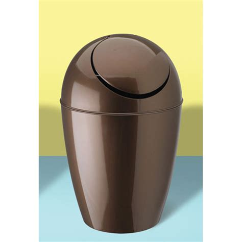 small bathroom wastebasket with lid bathroom accessories gt small trash cans gt umbra sway trash