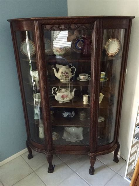 antique china cabinets antique corner china cabinet claw foot bow