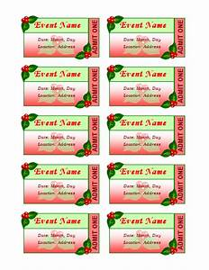 templates certificates holiday event tickets 10 per sheet With avery event ticket template