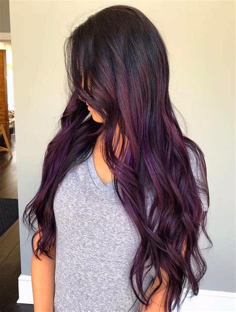 brand  ultra trendy purple balayage hair color ideas