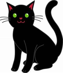 cat clipart | Simple Black Halloween Cat - Free Clip Art ...
