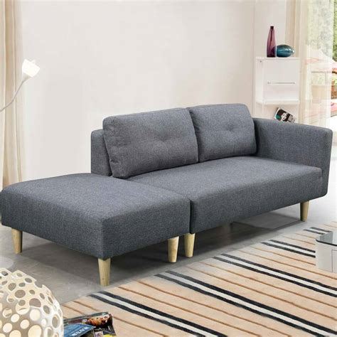 Cheap 3 2 Seater Sofa Deals by Modern 2 3 Seater Small Sofa Grey Fabric