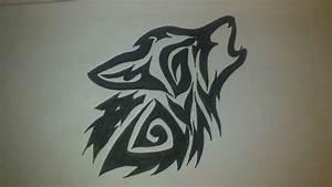 Tribal Howling Wolf Head   www.imgkid.com - The Image Kid ...
