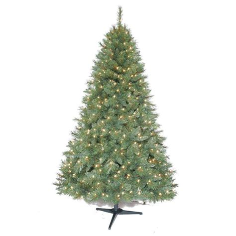 new 6 5 ft pre lit artificial aster pine christmas tree with clear lights ebay