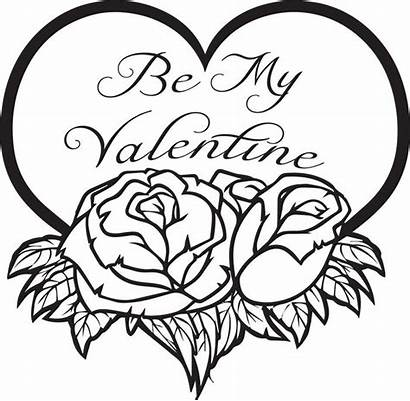Coloring Pages Valentines Sunday Valintine Valentine Happy