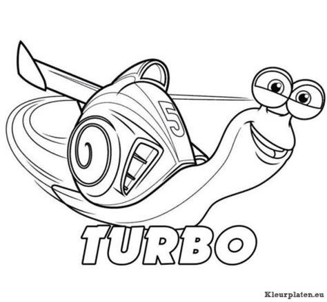 Kleurplaat Turbo Slak by Turbo Kleurplaten Kleurplaten Eu