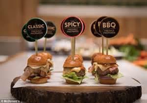 mini canape ideas mcdonald 39 s made posh versions of its burgers and