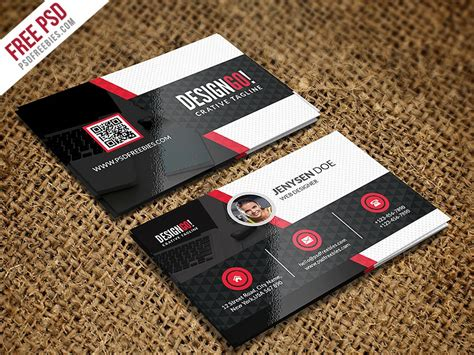 psd creative  modern business card template psd