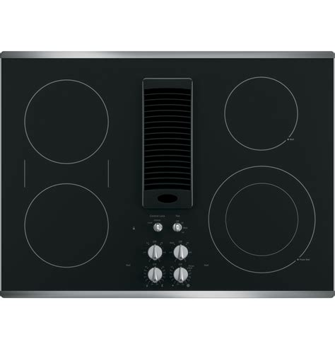 ge electric cooktop ge profile series 30 quot downdraft electric cooktop