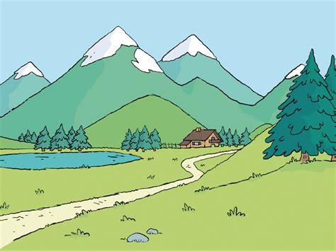 dessin de montagne 3 design