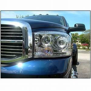 Hid Xenon   06-08 Dodge Ram Dual Angel Eye Halo  U0026 Led Projector Headlights