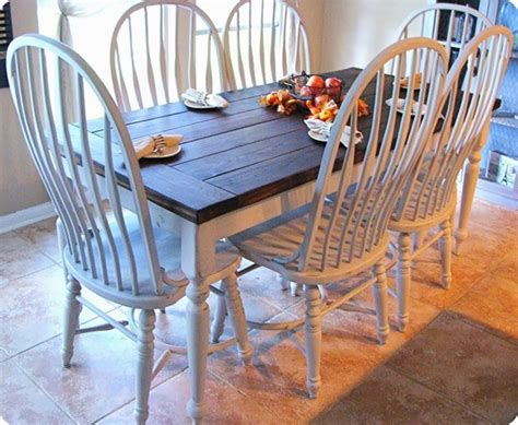 paint and stain farmhouse dining set