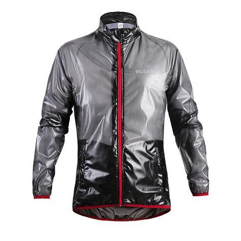 thin waterproof cycling jacket wosawe outdoor sports waterproof windproof rain cycling