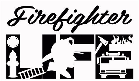 Svg is an image format for vector graphics. Firefighter Life SVG Cutting File for Cricut