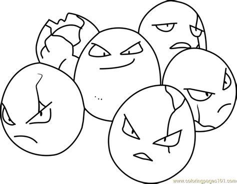 exeggcute pokemon coloring page  pokemon coloring
