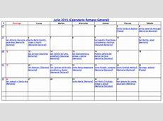 Calendario Litúrgico Católico 2015