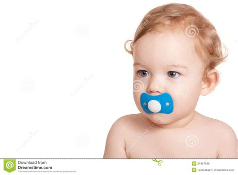 Baby With A Pacifier Royalty Free Stock Images Image