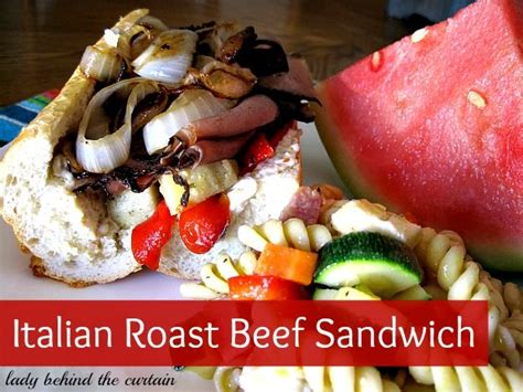 roast beef curtain images italian roast beef sandwich recipe