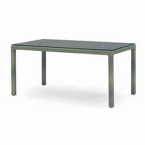Table Resine Tressee : table rectangulaire en r sine tress e et verre 160 x 90 ~ Edinachiropracticcenter.com Idées de Décoration