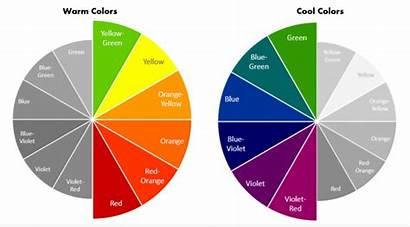 Colors Cool Warm Wheel Slideteam Wear Schemes