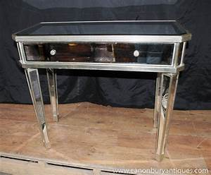 Mirrored hall console table side tables mirror deco for Mirrored furniture at home goods