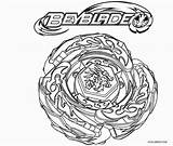 Beyblade Coloring Burst Pages Template sketch template