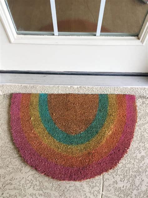 Rainbow Doormat by Greet Guests With An Easy Diy Rainbow Door Mat