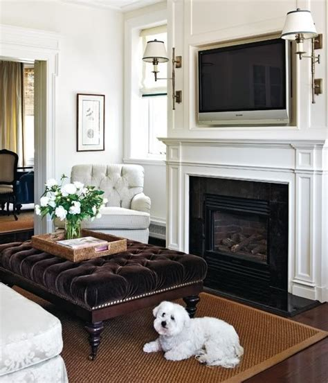 decor above tv hanging your tv the fireplace yea or nay driven